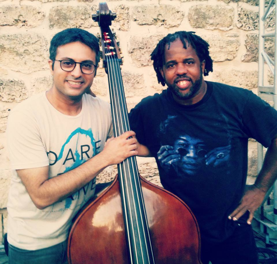 With Victor Wooten in Israel