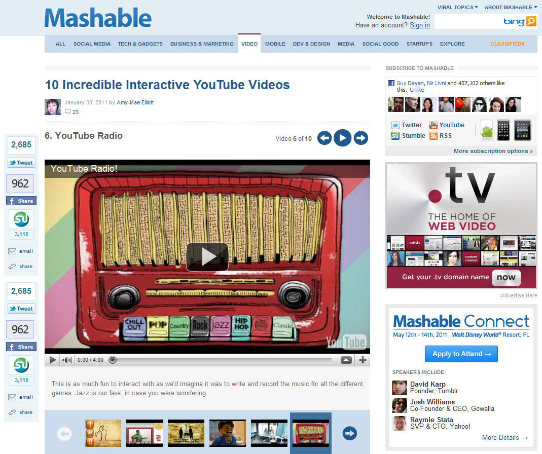 Mashable - Adam Ben Ezra